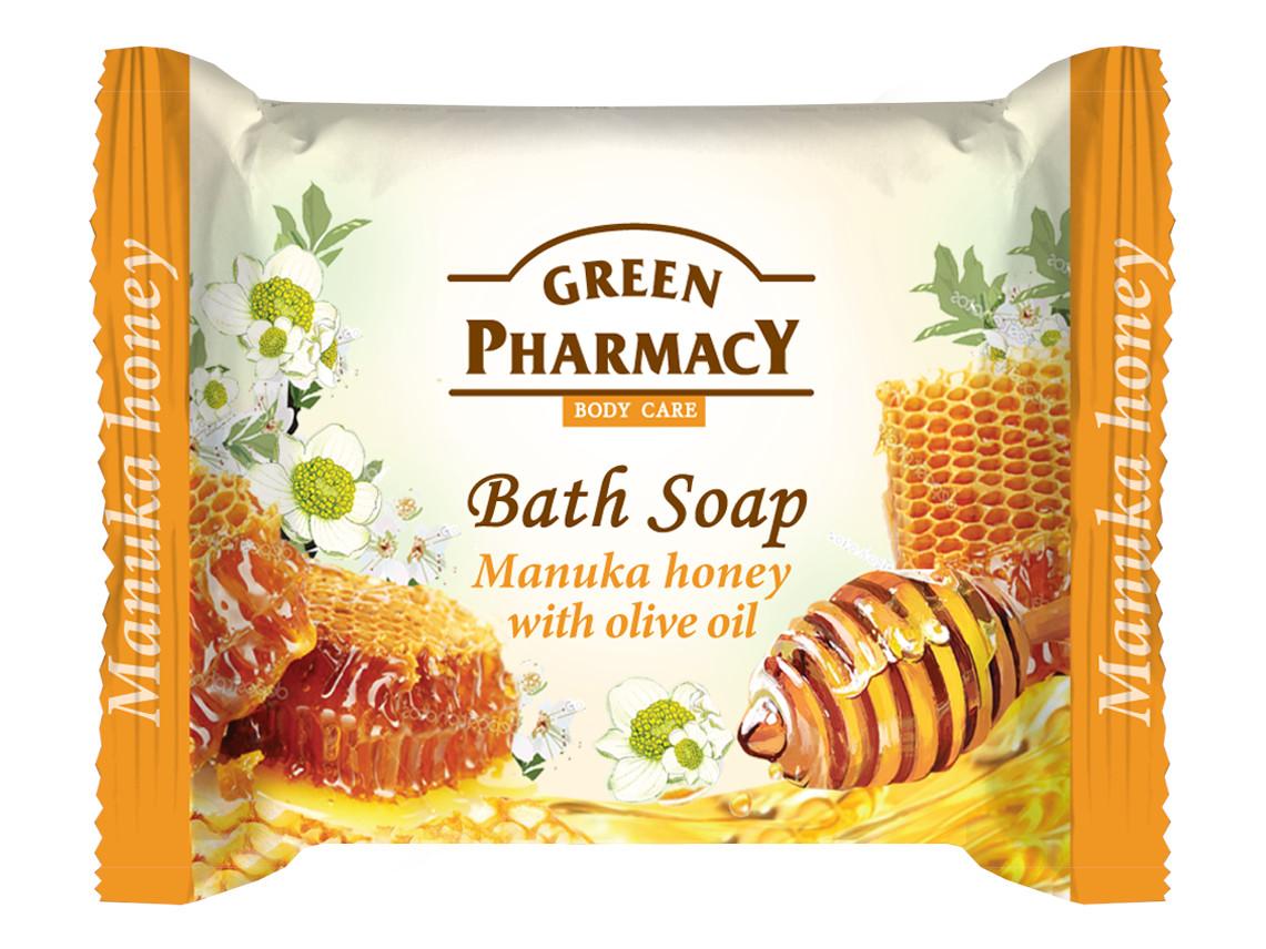 Toaletní mýdlo na ruce s medem a olivovým olejem Green Pharmacy Manuka Honey - 100 g