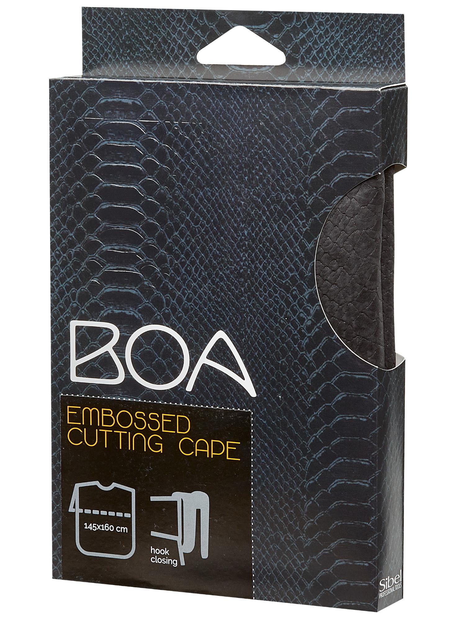Kadeřnická pláštěnka na stříhání Sibel Boa - černá (501064202) + DÁREK ZDARMA