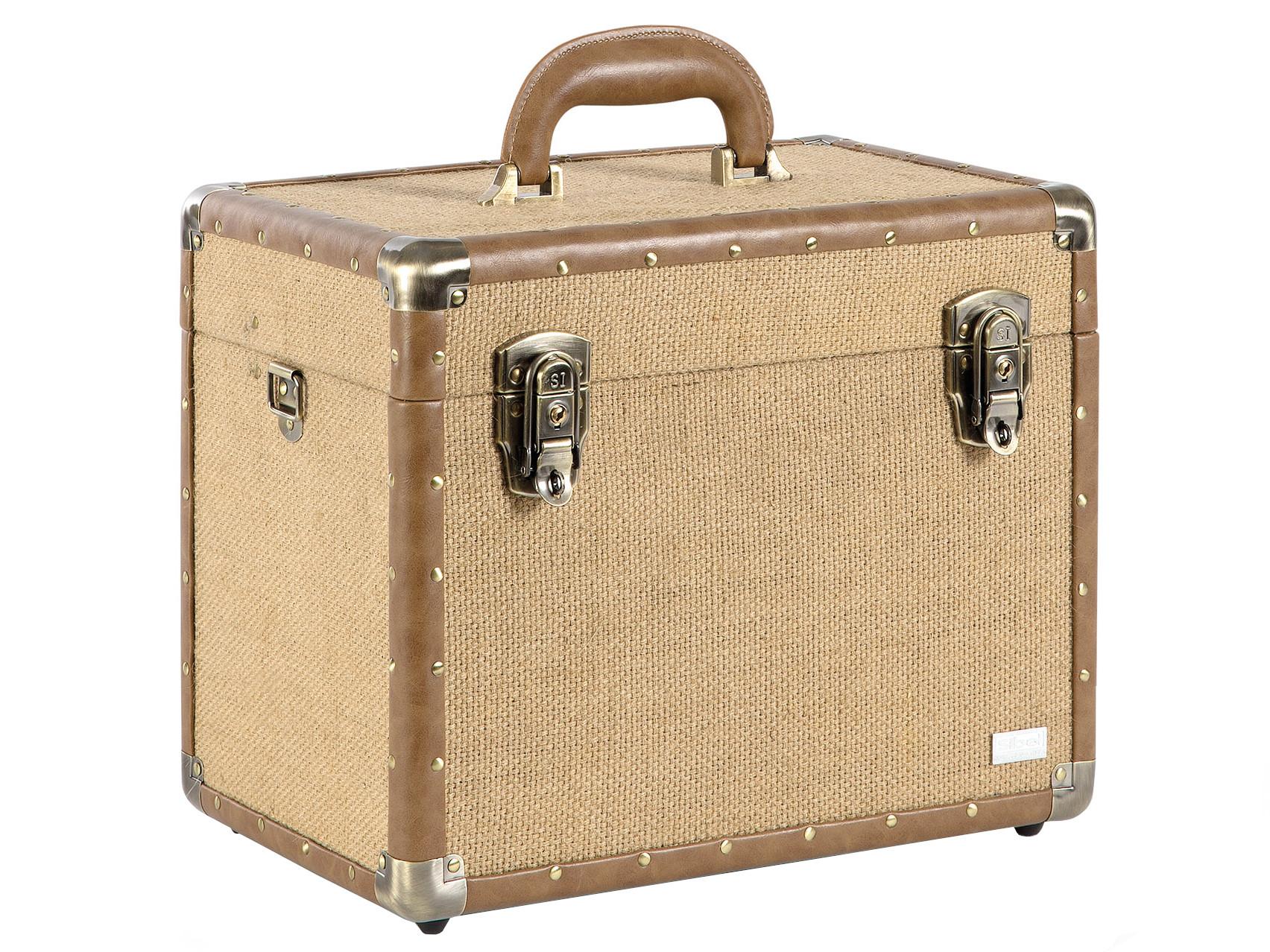Kadeřnický a kosmetický kufr Sibel Vanity - hnědá (0150861) + DÁREK ZDARMA