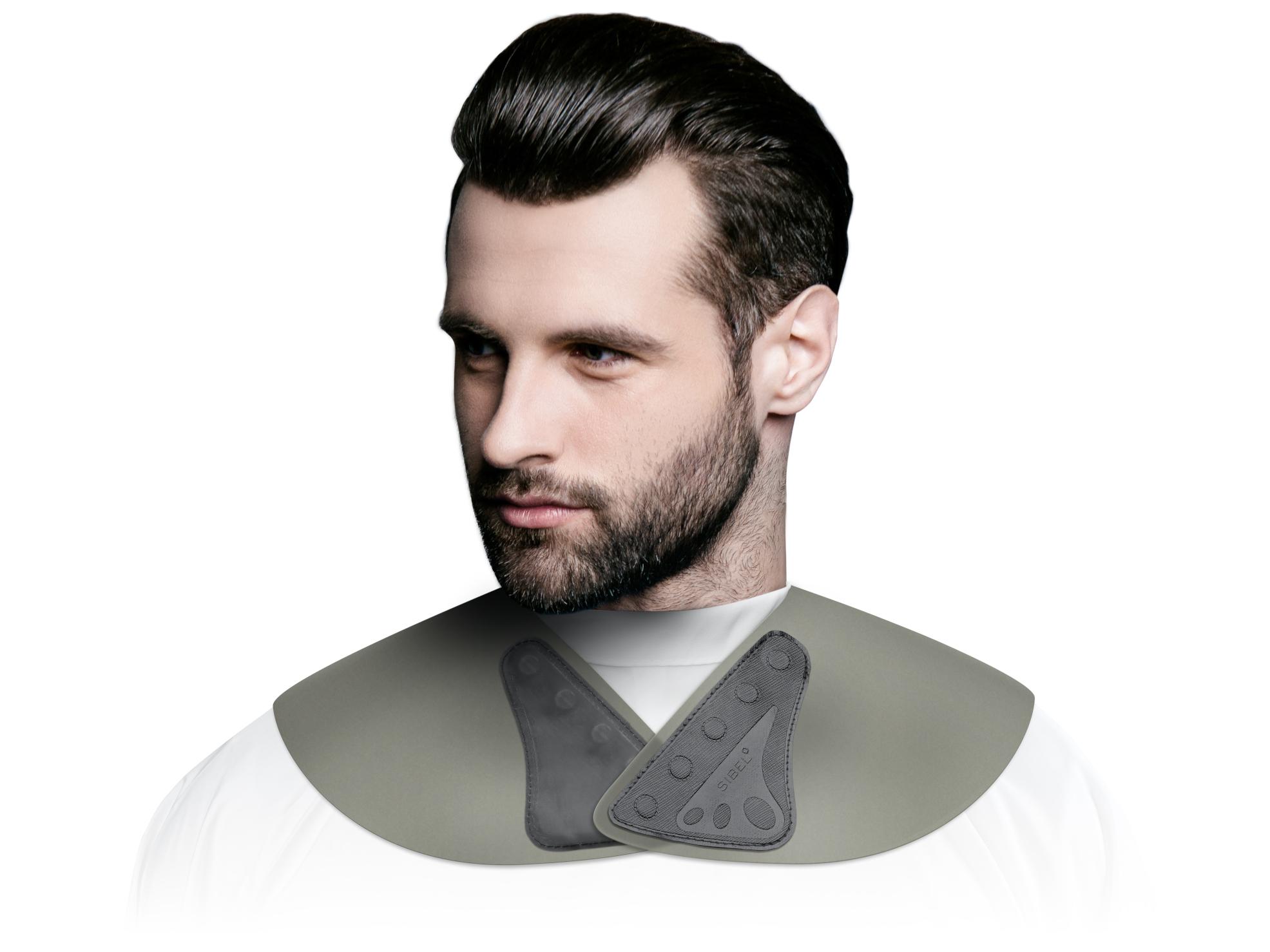 Pánský kadeřnický límec na stříhání Sibel Collatex - šedý (5066009) + DÁREK ZDARMA
