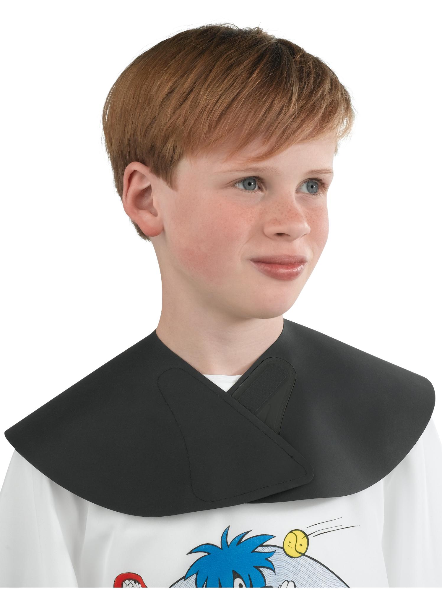 Dětský kadeřnický límec na stříhání vlasů Sibel - černý (0252000) + DÁREK ZDARMA