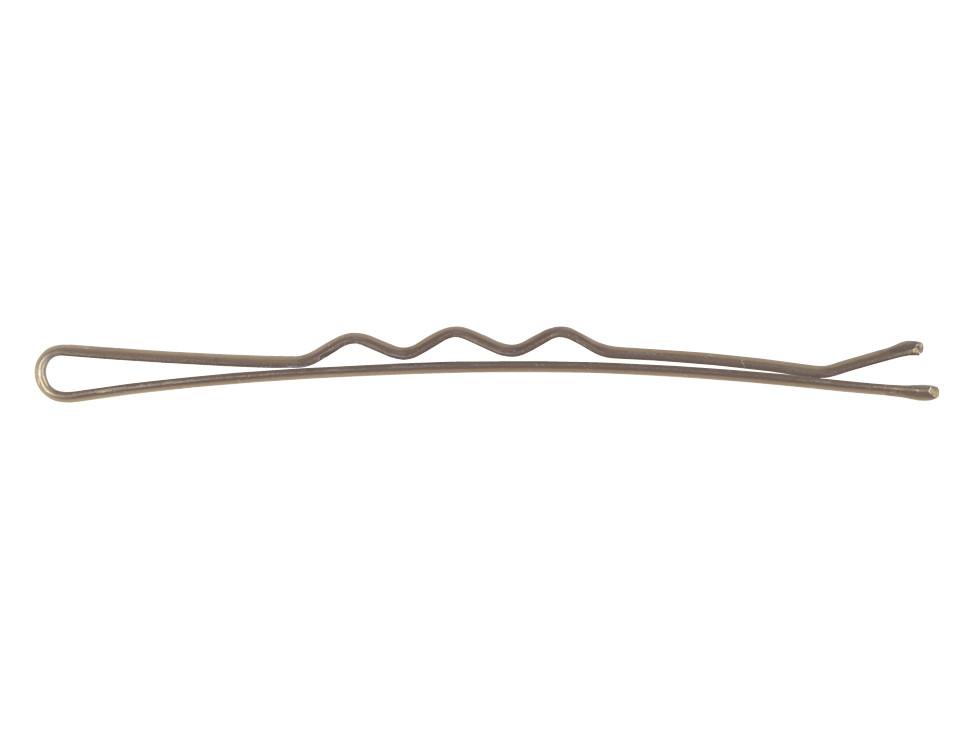 Vlnitá sponka Sibel Wavy - 5 cm, hnědá - 500 g (940005115) + DÁREK ZDARMA