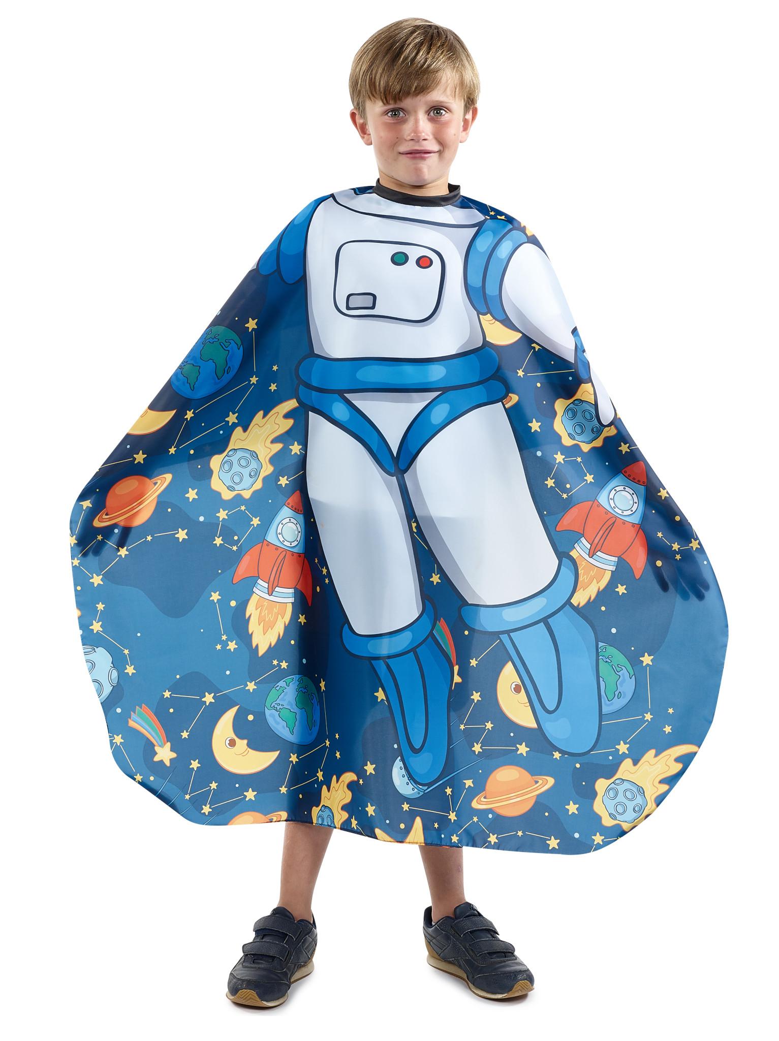 Dětská kadeřnická pláštěnka Sibel - kosmonaut (5091403) + DÁREK ZDARMA