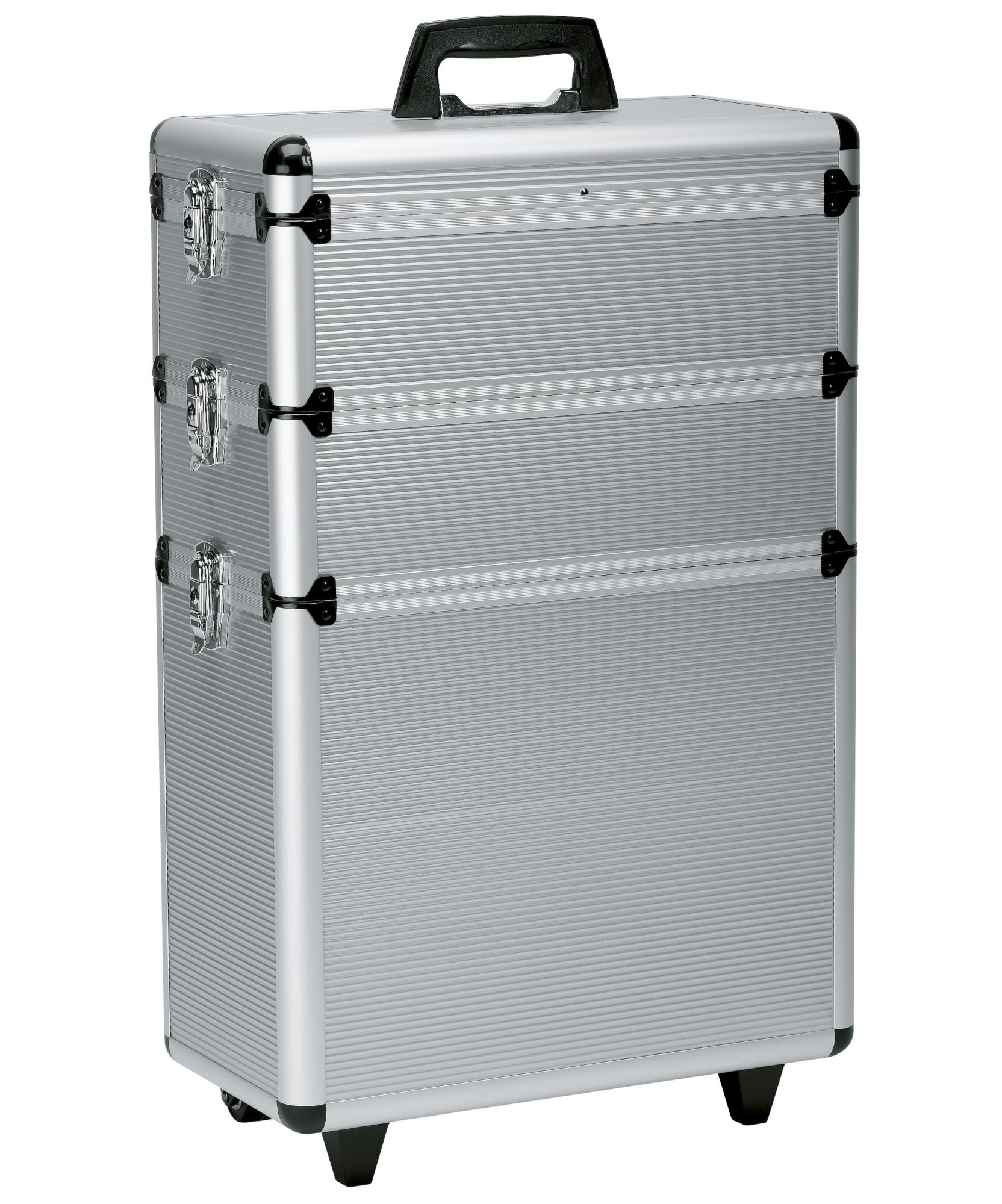 Sekční kufr na kolečkách Best Buy Original Alu - stříbrný (0150731) + DÁREK ZDARMA