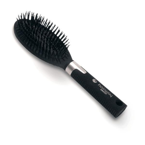 Oválný kartáč na vlasy s umělými štětinami Hairway (H-08039)