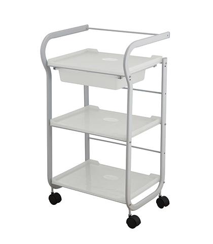Kosmetický stolek Weelko PART - 3 police, 1 výsuvná zásuvka, bílý (1017) + DÁREK ZDARMA