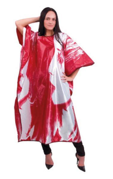 Kadeřnická pláštěnka Hairway 128 x 164cm - vínovobílá (37641) + DÁREK ZDARMA
