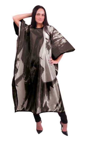 Kadeřnická pláštěnka Hairway 128 x 164cm - černá (37645) + DÁREK ZDARMA