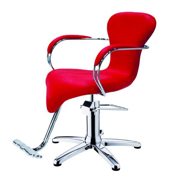 Kadeřnické křeslo s opěrkou na nohy Hairway LISA - červené (56021-YD27) + DÁREK ZDARMA