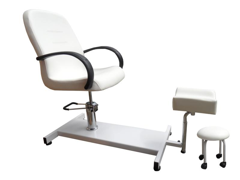 Pedikúrní sestava Detail - křeslo, podnožka, stolička - II. jakost, rezavý píst (DHS7112-P) + DÁREK ZDARMA