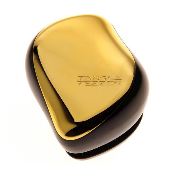 Tangle Teezer - COMPACT - cestovní - černý a zlatý lesklý + DÁREK ZDARMA