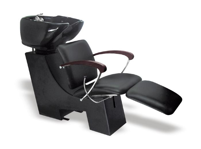 Kadeřnický mycí box Hairway Gustav - tmavě hnědé područky (57221-32-W03) + DÁREK ZDARMA
