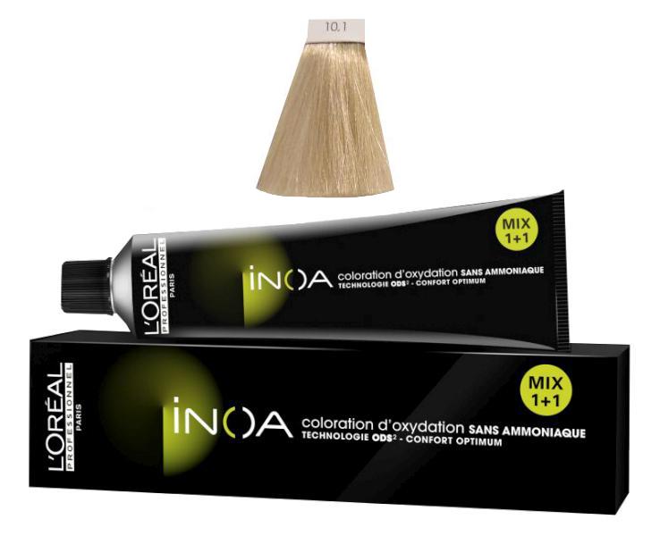 Loréal Inoa 2 barva na vlasy 60 g - odstín 10,1 blond velmi světlá popelavá