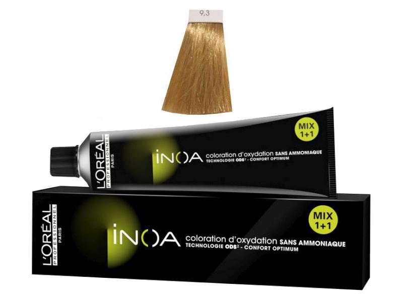 Loréal Inoa 2 barva na vlasy 60 g - odstín 9,3 blond velmi světlá zlatá
