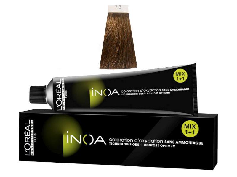 Loréal Inoa 2 barva na vlasy 60 g - odstín 7,3 blond zlatá