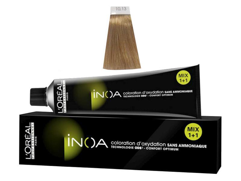 Loréal Inoa 2 barva na vlasy 60 g - odstín 10,13 blond velmi velmi světlá popelavá zlatá (10.13)