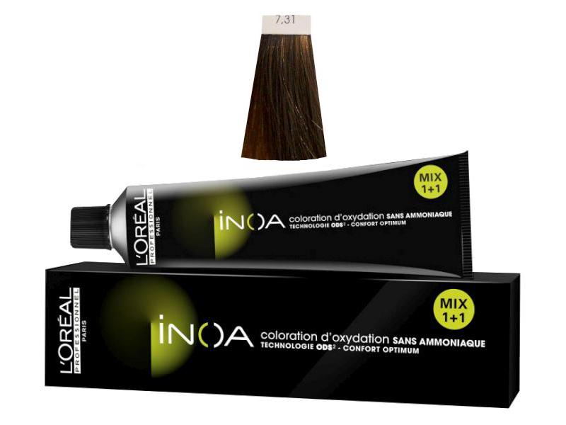 Loréal Inoa 2 barva na vlasy 60 g - odstín 7,31 blond zlatá popelavá + DÁREK ZDARMA