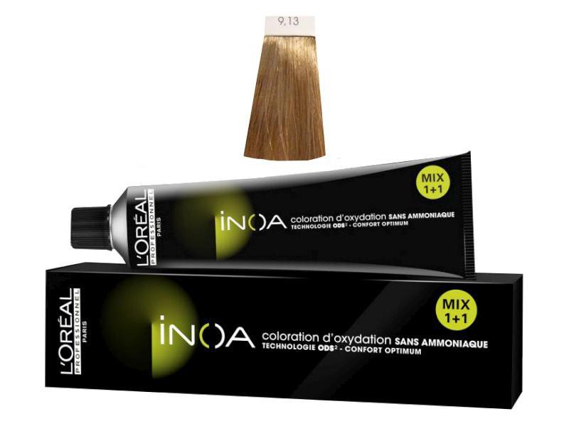 Loréal Inoa 2 barva na vlasy 60 g - odstín 9,13 blond velmi světlá popelavá zlatá