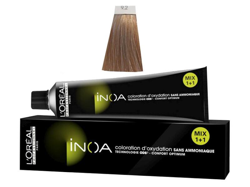 Loréal Inoa 2 barva na vlasy 60 g - odstín 9,2 velmi světlá blond duhová