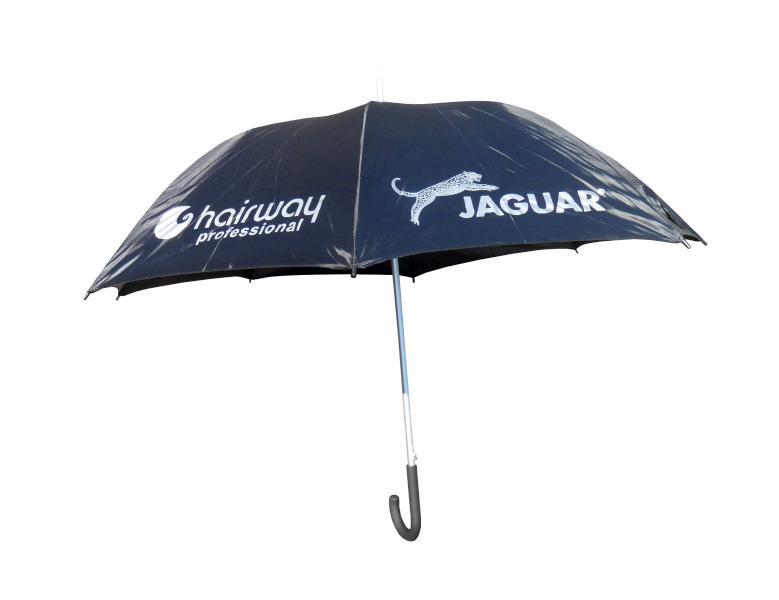 Hairway Deštník s nápisem - černý, velký (9999-REGENSCHIRM) + DÁREK ZDARMA
