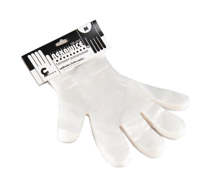 Jednorázové rukavice Eko-Higiena z fólie - vel.M, 100 ks (F/030/100M)