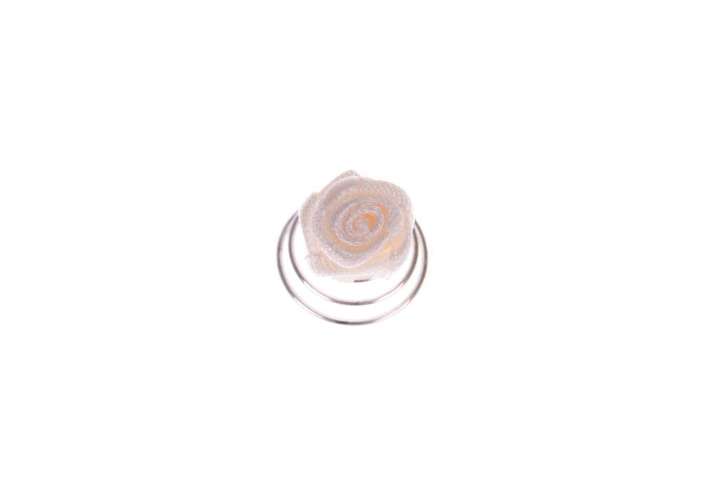 Spirálka do vlasů růžička - béžová, 1ks