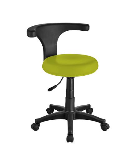 Pedikérská židle s opěrkou Weelko ERGO - zelená (1028-Green) + DÁREK ZDARMA