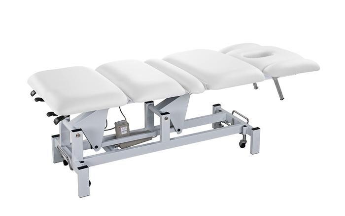 Elektrické masážní lehátko Weelko CLAVE - 3 motory, bílé (2252B) + DÁREK ZDARMA