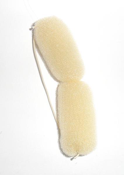 Mila výplň do drdolu s gumou - 17 cm, světlá (0068284(s))