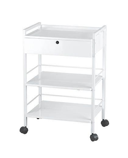 Kosmetický stolek na kolečkách Weelko EASY - 1 zásuvka, bílý (1019A) + DÁREK ZDARMA
