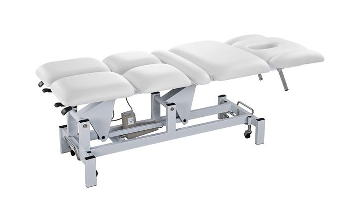 Elektrické masážní lehátko Weelko THOR - 2 motory, bílé (2252A) + DÁREK ZDARMA