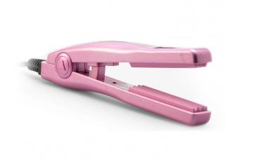 Volume Iron Krepovací kleště na vlasy MINI - 15 cm, růžové (25 010) - CERA + DÁREK ZDARMA