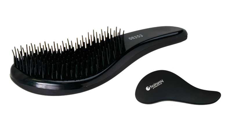 Kartáč na vlasy Hairway DeTangle - černý (08253)