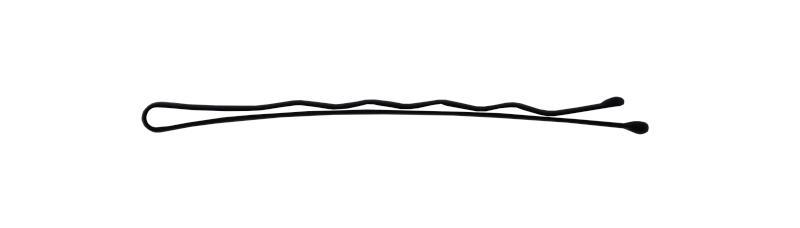 Sponka vlnitá Detail černá 6,5 cm - 30ks (DHSLJ32)