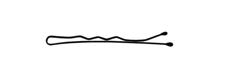Sponka vlnitá Detail černá 4 cm - 50ks (DHSLJ24)