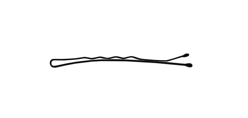 Sponka vlnitá Detail černá 6 cm - 25ks (DHSLJ28)