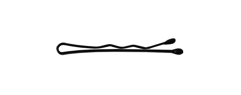 Sponka vlnitá Detail černá 3,5 cm - 25ks (DHSLJ02)