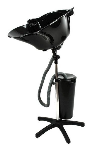 Kadeřnická mycí mísa Hairway QUICK - přenosná, černá (57071) + DÁREK ZDARMA