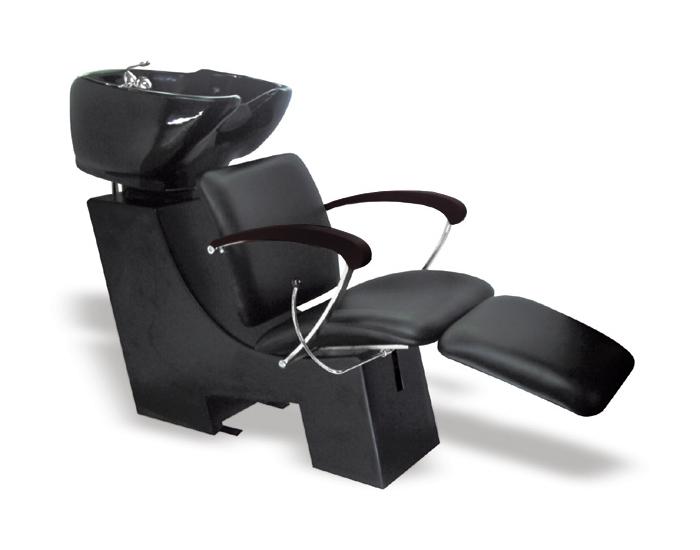 Kadeřnický mycí box Hairway Gustav - černé područky (57221) + DÁREK ZDARMA