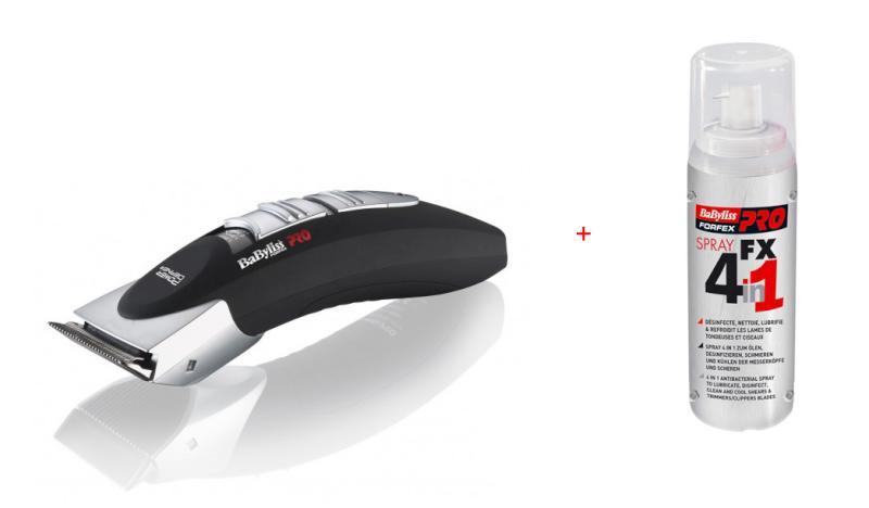 BaByliss Pro Strojek na vlasy FX672E + dezinfekční sprej (FX672E + FX040290) + DÁREK ZDARMA