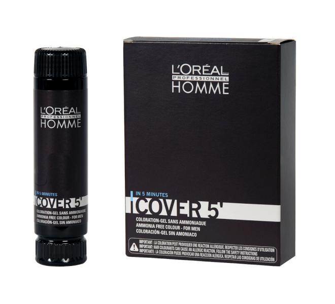 Homme Cover 5' Revitalizující péče 3x50ml - 7, blond (Medium Blond) - Loréal Professionnel + DÁREK ZDARMA