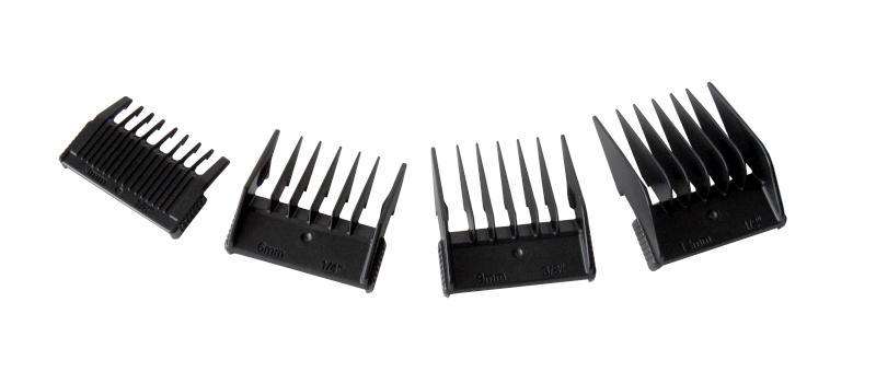 Sada náhradních nástavců pro strojek Ultra Haircut Pro - 4 ks - Hairway + DÁREK ZDARMA