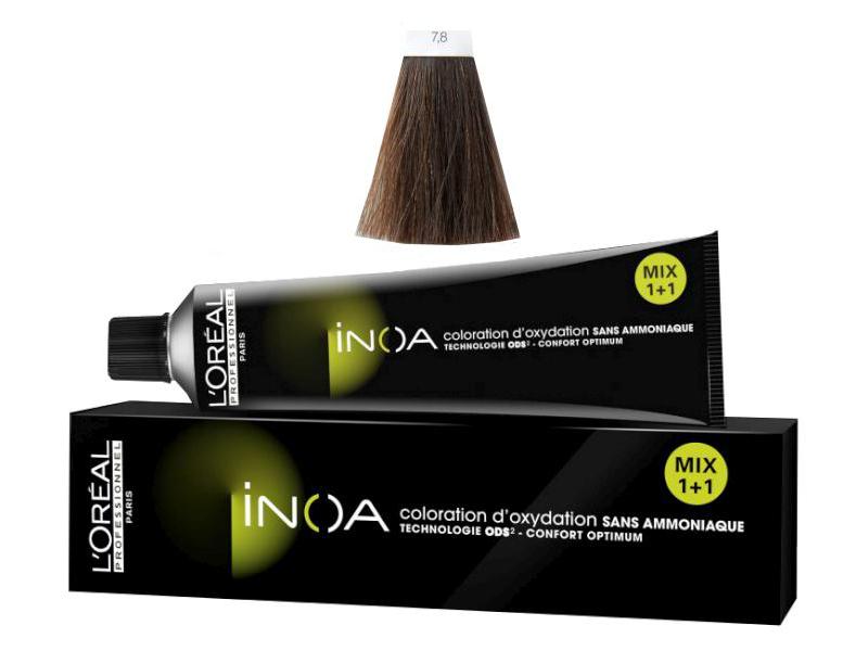 Loréal Inoa 2 barva na vlasy 60 g - odstín 7,8 blond mokka