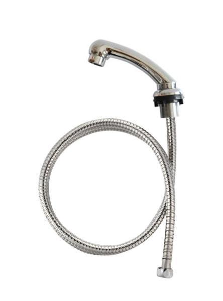 Detail - náhradní sprška s kovovou hadicí pro mycí box - chrom (DHSA-17) + DÁREK ZDARMA