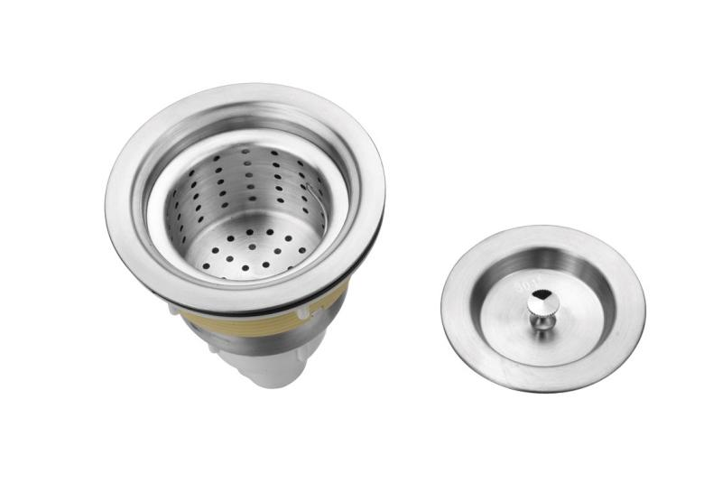 Detail - náhradní umyvadlová výpusť pro mycí box - nerezová (DHSA-22) + DÁREK ZDARMA