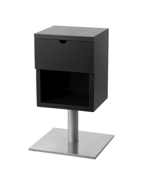 Pracovní dřevěný stolek Detail Lux černý - II. jakost, rýha a bílý povlak na zásuvce (DHS9205) + DÁREK ZDARMA