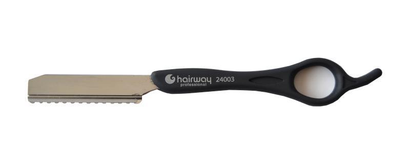 Břitva na seřezávání vlasů Hairway - černá (24003) + DÁREK ZDARMA