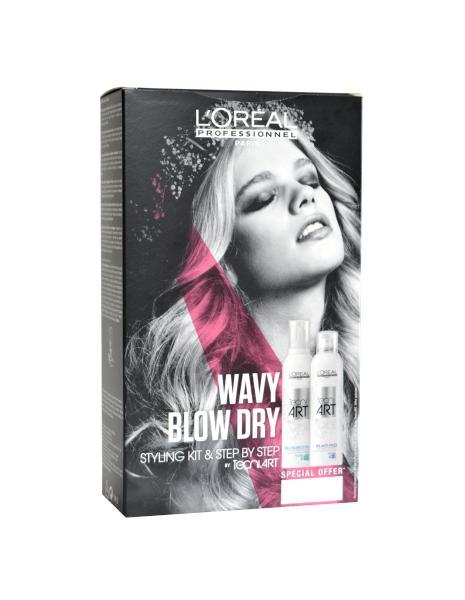 Balíček WAVY BLOW DRY Pěna Full volume + sprej Anti-Frizz - Loréal Professionnel + DÁREK ZDARMA