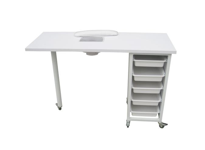 Manikúrní stolek Weelko Ulnar s odsáváním - bílý (WK-M003) + DÁREK ZDARMA