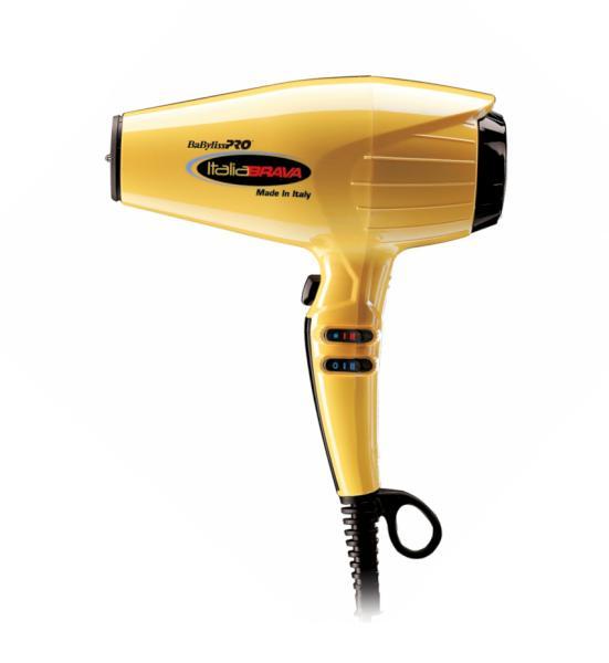 Fén BaByliss Pro ItaliaBrava s ionizací - 2400 W, žlutý (BABFB1E) + DÁREK ZDARMA